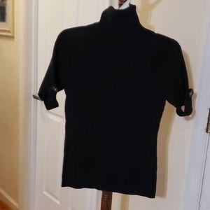 Turtleneck sweater w/tab detail on short sleeve